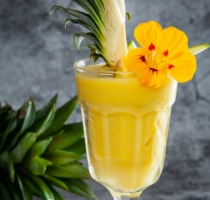 Yellow egzotic smoothie Smooxie Sunny Side